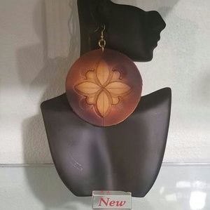 Leather Rounds Earrings